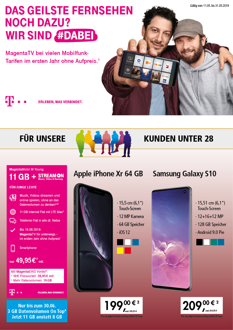 Magenta Mobil Apple iPhone Xr Samsung Galaxy S10